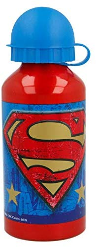Superman Symbol - Botella Cantimplora de Aluminio, 400 ml