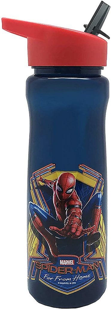Marvel - Botella de plástico (600 ml, Polipropileno)